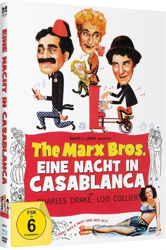 Eine Nacht in Casablanca - The Marx Bros. (1946) (s/w, Limited Edition, Mediabook, Blu-ray + DVD)