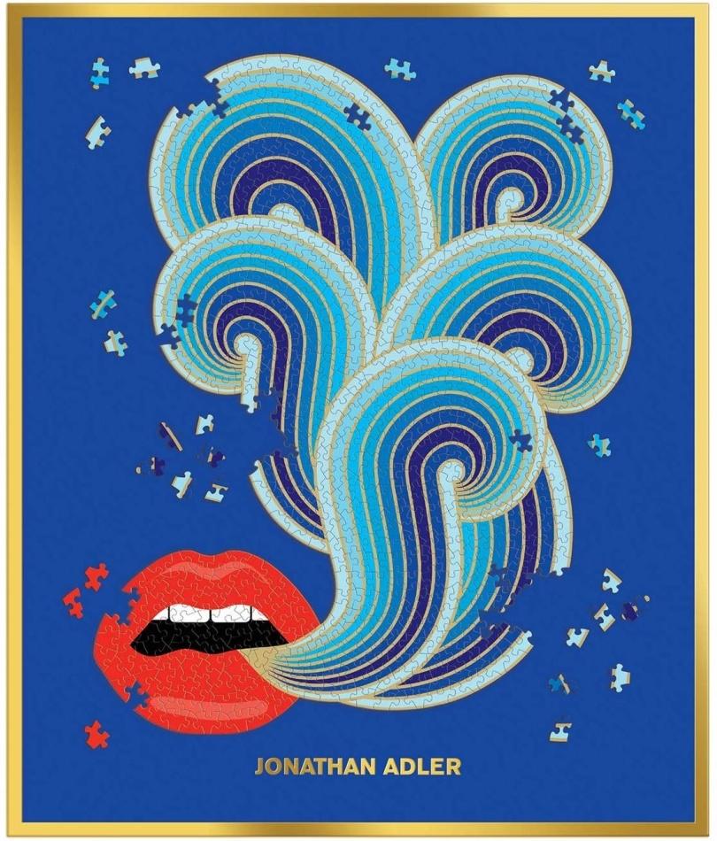 Jonathan Adler: Lips - 750 Piece Shaped Puzzle