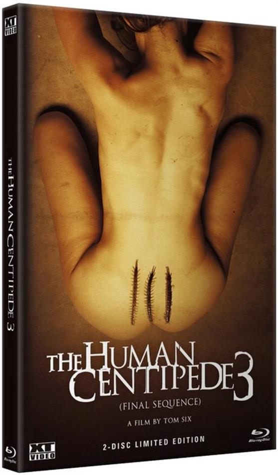 The Human Centipede 3 (2015) (Cover A, Grosse Hartbox, Limited Edition, Uncut, Blu-ray + DVD)