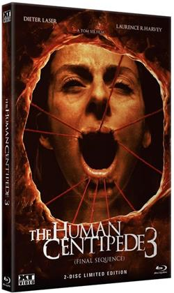 The Human Centipede 3 (2015) (Grosse Hartbox, Cover B, Limited Edition, Uncut, Blu-ray + DVD)