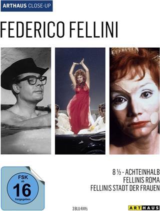 Federico Fellini - 8 1/2 - Achteinhalb / Fellinis Roma / Fellinis Stadt der Frauen (Arthaus Close-Up, 3 Blu-rays)