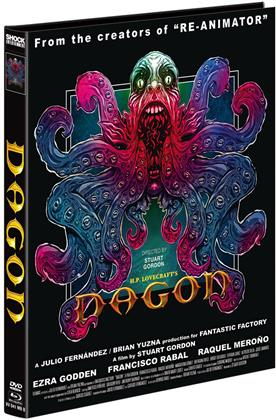 Dagon (2001) (Cover B, Limited Edition, Mediabook, Blu-ray + DVD)