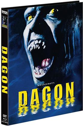 Dagon (2001) (Cover D, Limited Edition, Mediabook, Blu-ray + DVD)