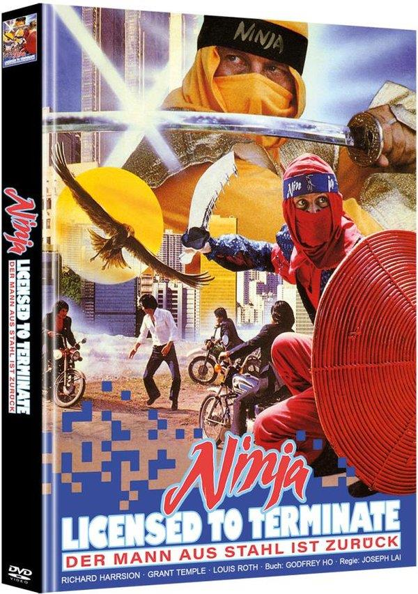 Ninja - Licensed to Terminate (1987) (Cover B, Limited Edition, Mediabook, Uncut, 2 DVDs)
