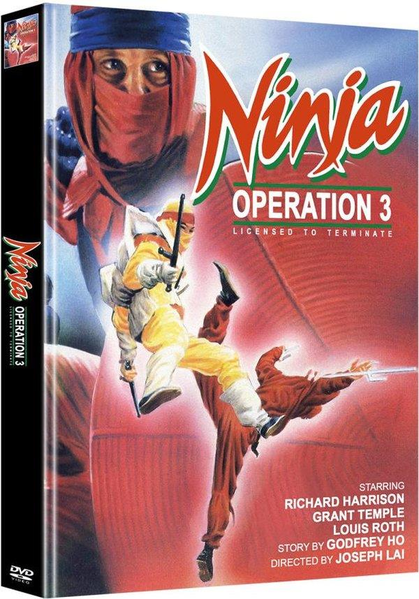 Ninja Operation 3 - Licensed to Terminate (1987) (Cover A, Limited Edition, Mediabook, Uncut, 2 DVDs)