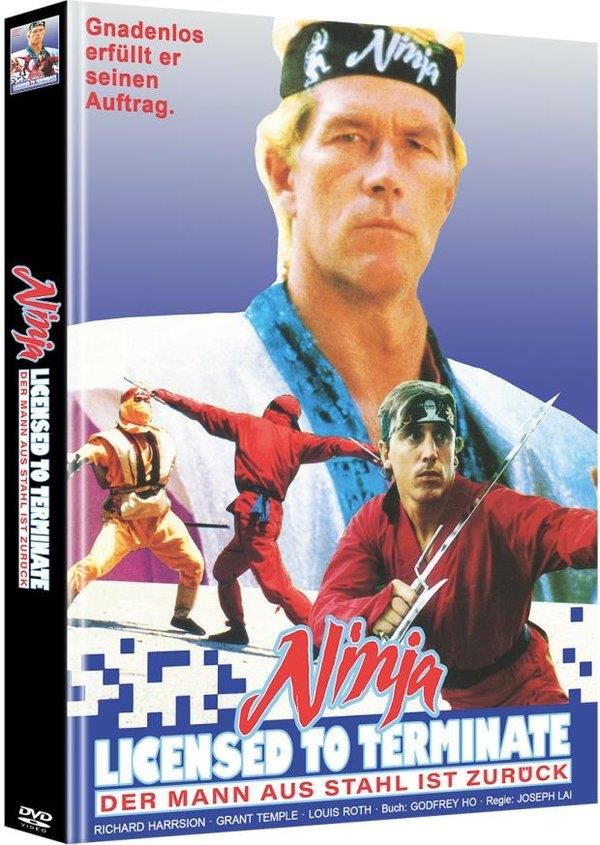 Ninja - Licensed to Terminate (1987) (Cover C, Limited Edition, Mediabook, Uncut, 2 DVDs)