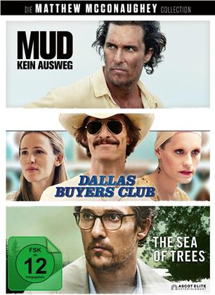 Die Matthew McConaughey Collection - Mud - Kein Ausweg / Dallas Buyers Club / The Sea of Trees (3 DVDs)