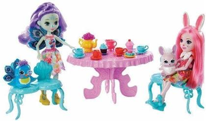 Enchantimals Tolle Teeparty Spielset mit Bree Bunny & Patter Peacock Puppen
