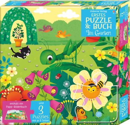Erstes Puzzle & Buch - Im Garten