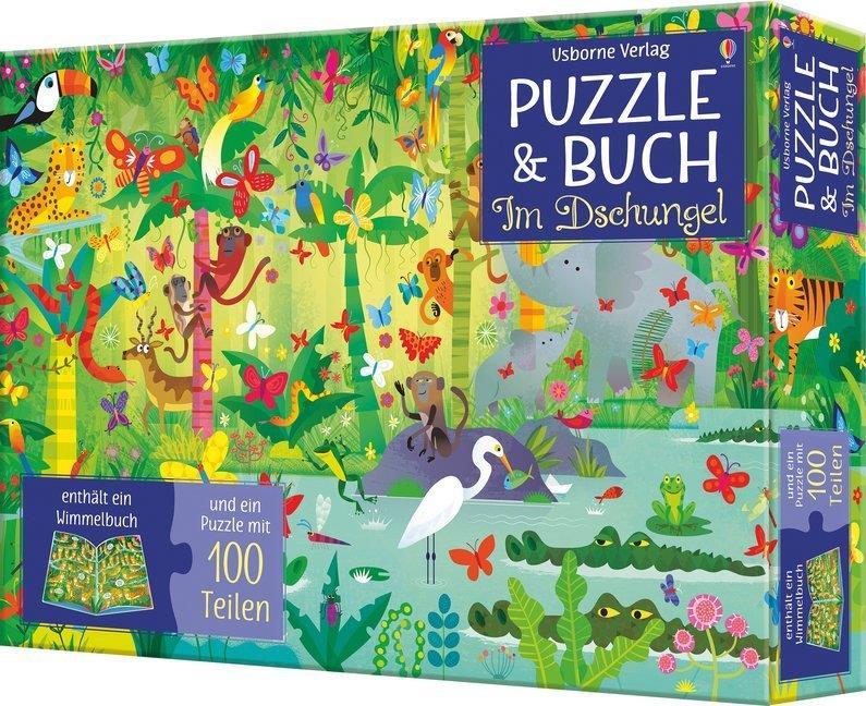Puzzle & Buch - Im Dschungel