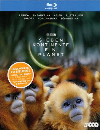 Sieben Kontinente - Ein Planet (BBC Earth, Schuber, Uncut, 3 Blu-rays)