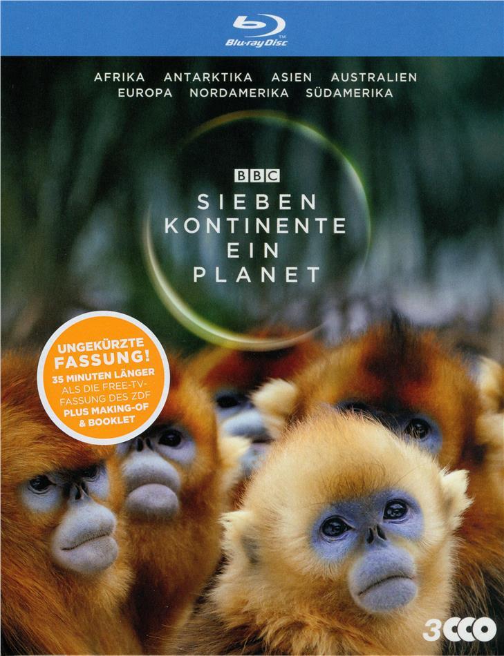 Sieben Kontinente - Ein Planet (BBC Earth, Schuber, Uncut, 3 Blu-ray)