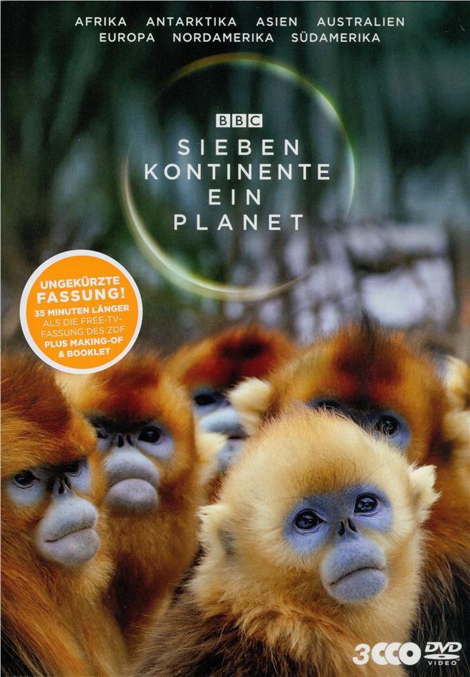Sieben Kontinente - Ein Planet (BBC Earth, Schuber, Uncut, 3 DVD)