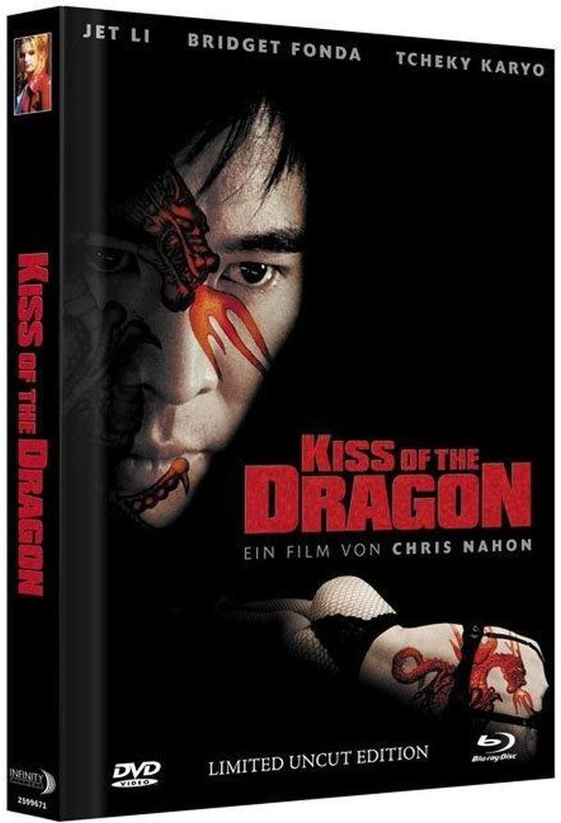 Kiss of the Dragon (2001) (Cover A, Extended Edition, Limited Collector's Edition, Mediabook, Uncut, Blu-ray + DVD)