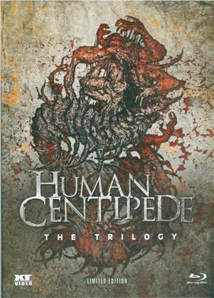 Human Centipede 1-3 - The Trilogy (Limited Edition, Mediabook, Special Edition, Uncut, 3 Blu-rays)