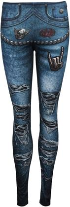Spiral - Torn Denim - Allover Print Comfy Fit Leggings - Taglia S