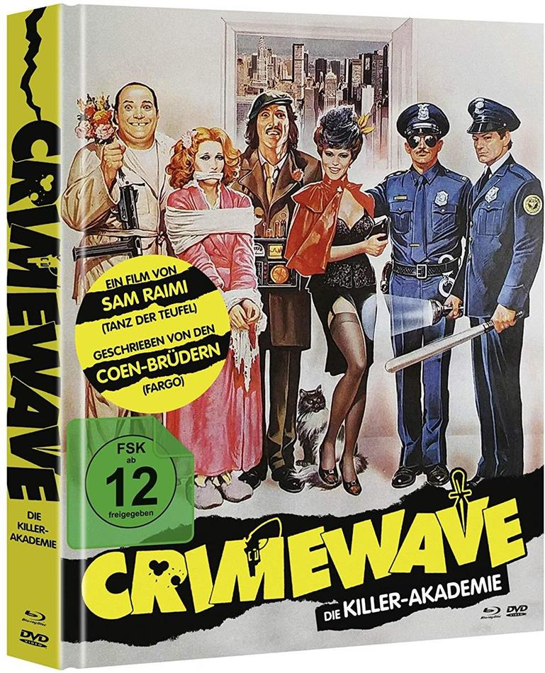 Crimewave - Die Killer-Akademie (1985) (Cover B, Mediabook, Blu-ray + DVD)