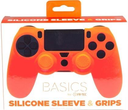 PS4 Silicone Skin + Grips (Orange)