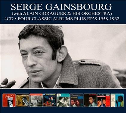 Serge Gainsbourg - Four Classic Albums Plus Eps 1958-1962 (Digipack, 4 CDs)