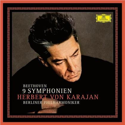 Ludwig van Beethoven (1770-1827), Herbert von Karajan & Berliner Philharmoniker - 9 Symphonien - 1963 Erstaufnahme (8 LPs)