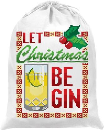 Let Christmas Be Gin - Santa Sack