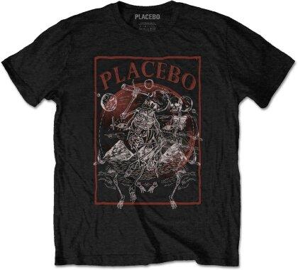 Placebo Unisex Tee - Astro Skeletons
