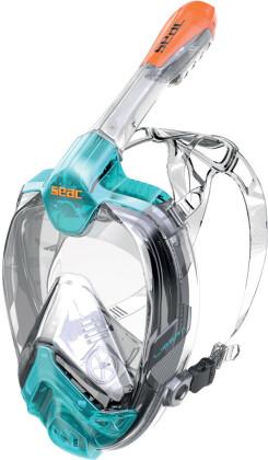 Vollgesichtsmaske Libera L - L/XL, Schnorkelmaske, aqua-