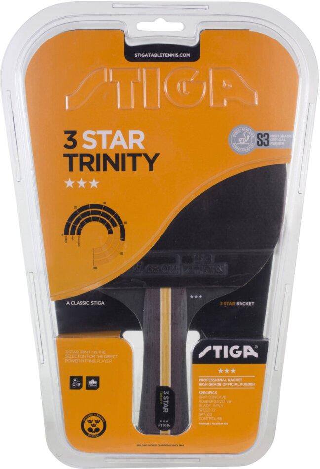 TT-Schläger 3-Star Trinity - Tischtennis, konkaver Griff,