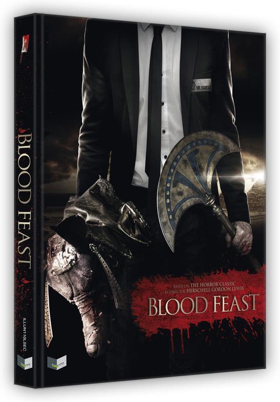 Blood Feast (2016) (Cover C, Wattiert, Limited Edition, Mediabook, Uncut, 2 Blu-rays + DVD + CD)