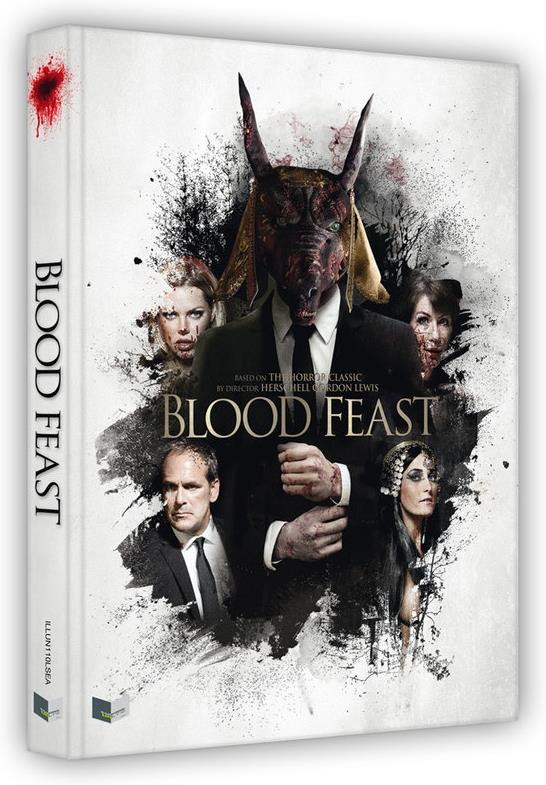 Blood Feast (2016) (Cover A, Wattiert, Limited Edition, Mediabook, Uncut, 2 Blu-rays + DVD + CD)