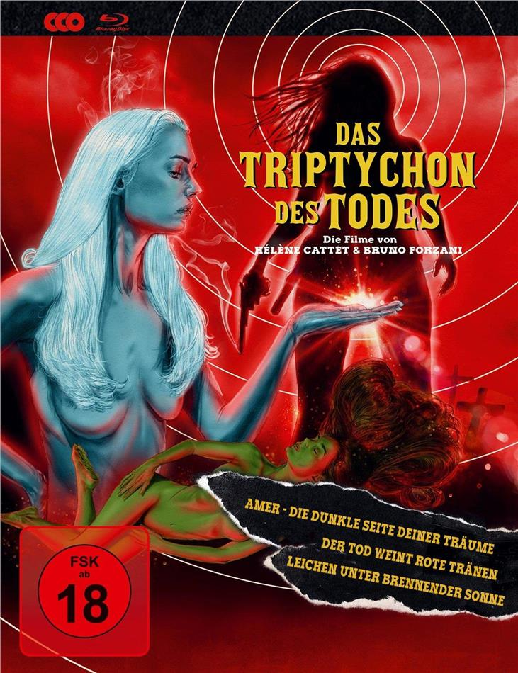Das Triptychon des Todes - Amer / Der Tod weint rote Tränen / Leichen unter brennender Sonne (Limited Edition, Mediabook, 3 Blu-rays)