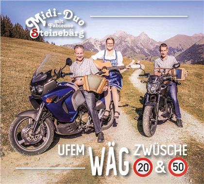 Midi-Duo Steinebärg mit Fabienne - Uf em Wäg zwüsche 20 & 50 (2 CDs)
