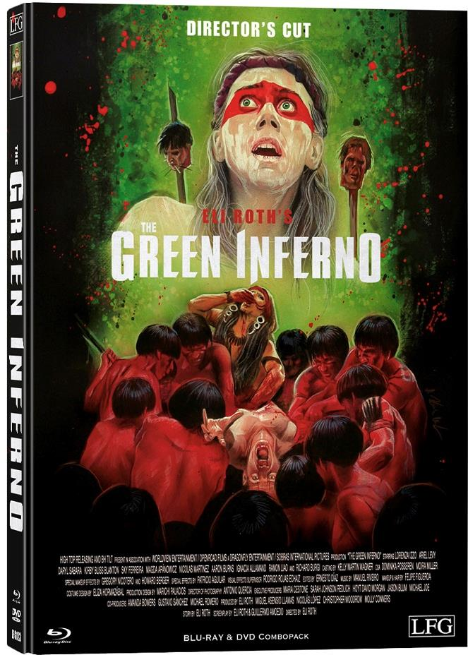 The Green Inferno (2013) (Cover B, Director's Cut, Edizione Limitata, Mediabook, Uncut, Blu-ray + DVD)