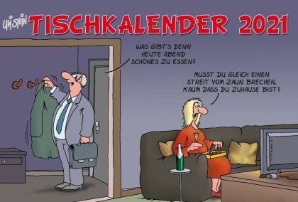 Uli Stein – Tischkalender 2021 - Monatskalender zum Aufstellen