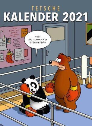 Tetsche Kalender 2021 - Monatskalender für die Wand