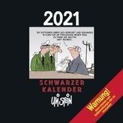 Uli Stein – Schwarzer Kalender 2021 - Monatskalender für die Wand