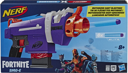 Nerf Fortnite SMG-E Blaster - Blaster, 6 Darts, Batt.