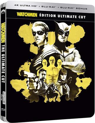 Watchmen (2009) (Ultimate Cut, Limited Edition, Steelbook, 4K Ultra HD + 2 Blu-rays)