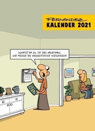 Fernandez Cartoon-Wandkalender 2021 - Monatskalender