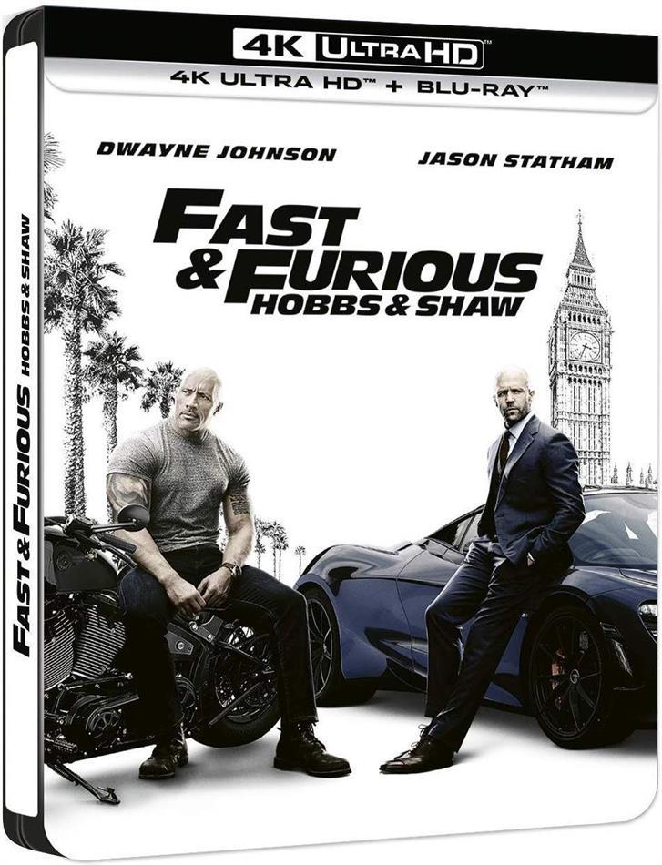 Fast & Furious: Hobbs & Shaw (2019) (Edizione Limitata, Steelbook, 4K Ultra HD + Blu-ray)