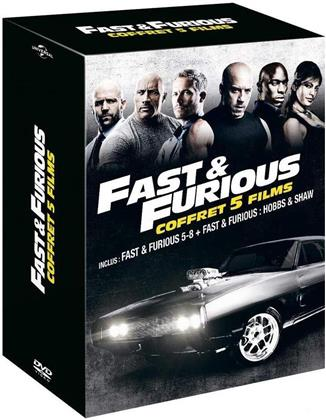 Fast & Furious 5-8 + Hobbs & Shaw - Coffret 5 Films (5 DVDs)