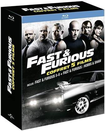 Fast & Furious 5-8 + Hobbs & Shaw - Coffret 5 Films (5 Blu-rays)