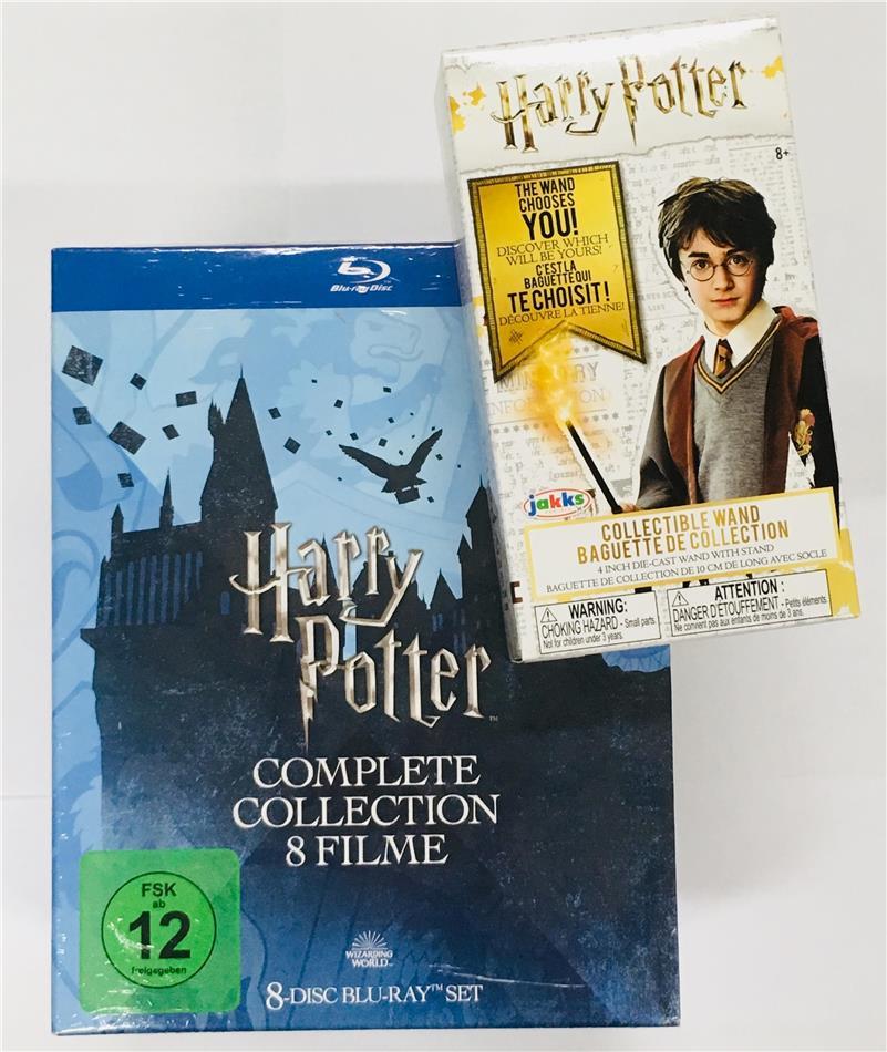 Harry Potter 1-7 - Complete Collection inkl. Sammler Zauberstab (Limited Edition, 8 Blu-rays)