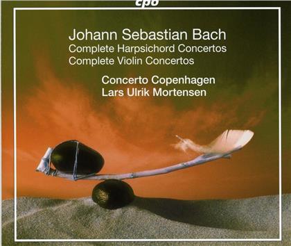 Johann Sebastian Bach (1685-1750), Lars Ulrik Mortensen & Concerto Copenhagen - Complete Harpsichord & Violin Concertos (5 CDs)