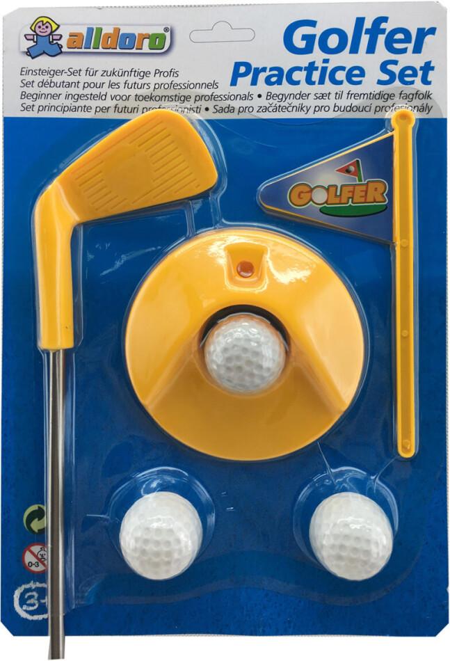 Golf Set 5 Teile - 1 x Schläger, 1x Golfloch,