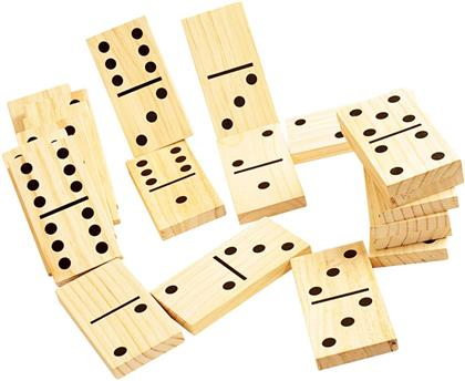 Garten Domino Holz - Outdoor Play, 28 Dominos XXL