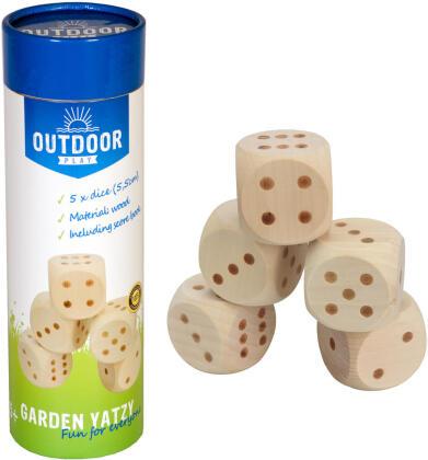 Garten Yatzy Holz - Outdoor Play, 5 Würfel / 5,5