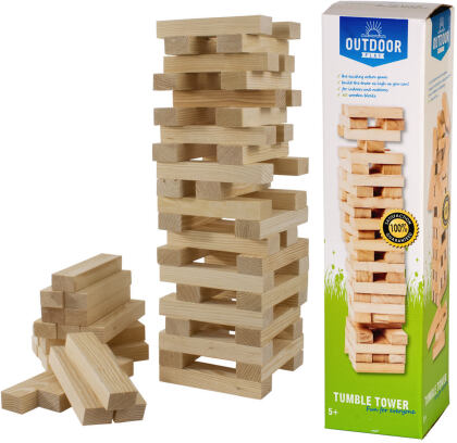Holzturm Tumble Tower - Outdoor Play Stapelspiel
