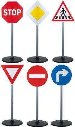 Verkehrszeichen 72 cm - 72 cm hoch, 6 Verkehrs-