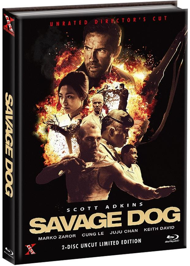 Savage Dog (2017) (Cover A, Unrated Director's Cut, Limited Edition, Mediabook, Uncut, Blu-ray + DVD)